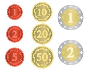 Imaginary collection of coins