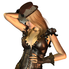 Blondes Steampunk Model