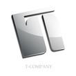 Logo initial letter T 3d # Vector
