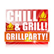 Chill & Grill! Grillparty! Button, Icon