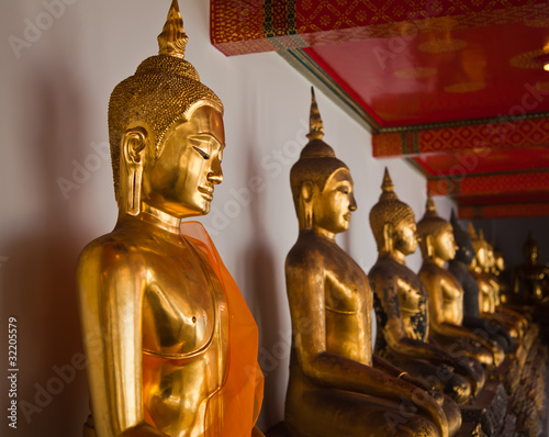 Poster Row of Buddha Images
