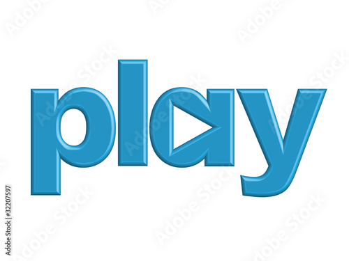 """PLAY"" Web Icon (video watch media player play button 3d image)"