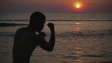 HD720p25 Sunset Shadow Boxing