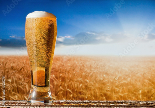 beer in a landscape