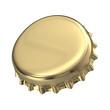 Gold Metallic bottle cap - 3d render