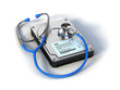 Stethoscope and Hard Drive Disc