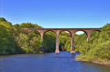 Victorian Railway Viaduct Crossing Lake poster