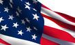 USA flag wave vector