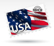 Stamp MADE IN USA vector