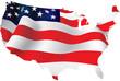 USA map USA flag