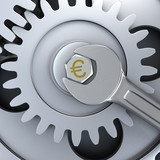 Gear wheels and wrench - euro fixing