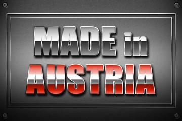 MADE in AUSTRIA Plakette