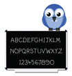 Hand written text and numbers on blackboard