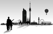 Wien Skyline mit Personen