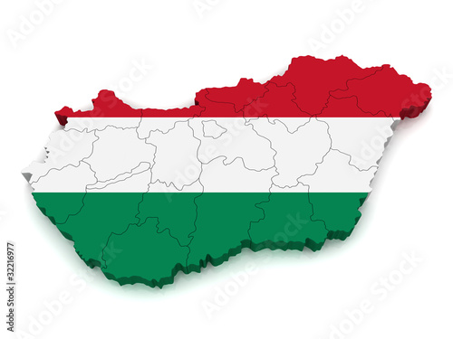 3D Map of Hungary