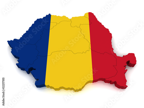 3D Map of Romania