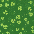 vector green seamless pattern with trefoils
