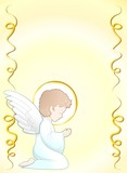 Prima Comunione Angelo Sfondo-First Communion Angel Background-2