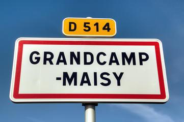 Grancamp-Maisy - Panneau de commune