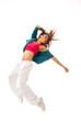 New pretty modern slim hip-hop style woman dancer dancing
