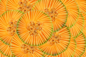 Beautiful pattern with muskmelon