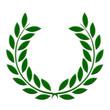 Lauriers verts en relief
