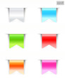 blank ribbons with color variations