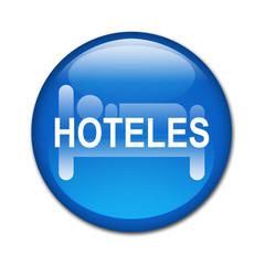 Boton brillante HOTELES.