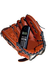 Baseball glove and phone