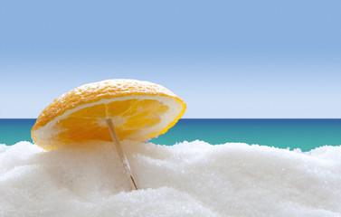 Orange on the sugar beach