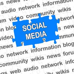 Puzzle blau SOCIAL MEDIA
