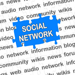 Puzzle blau SOCIAL NETWORK