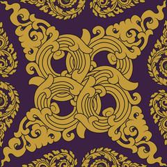 Seamless pattern baroque 03