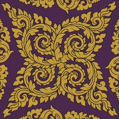 Seamless pattern baroque 02