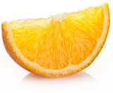 Fototapety Orange slice on a white background.