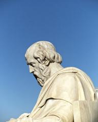 Plato statue, blue sky