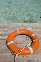 Lifesaver on the deck