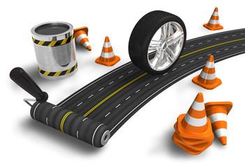 Road construction concept