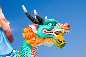 Dragon statue at a temple in Hua Hin, Thailand
