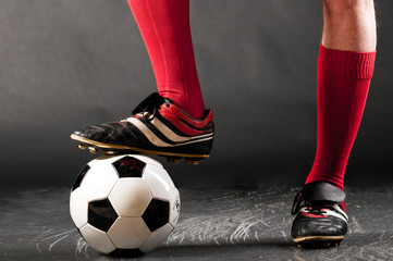 legs of soccer player