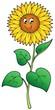 Detaily fotografie Roztomilý kreslený slunečnice