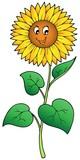 Roztomilý kreslený slunečnice