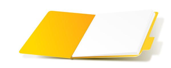 Ordner Gelb 3d