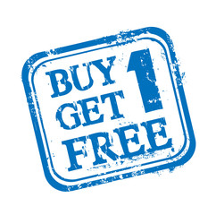 Buy 1, get 1 for free Stempel Abbild