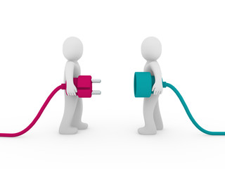 3d men plug  pink green