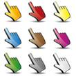 Computer Maus Computermaus Mauszeiger Cursor Hand Set 2