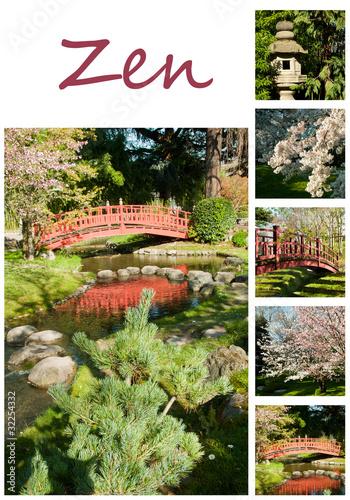 Composition jardin japonais zen photo libre de droits for Acheter jardin japonais