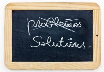 ardoise : solutions / problèmes