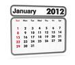 calendar 2012 - january month