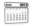 calendar 2012 - june month